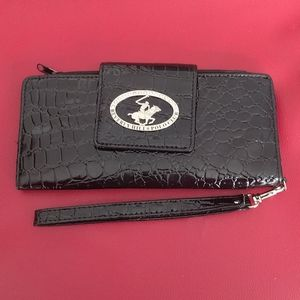 Black wallet /wristlet by Beverly Hills Polo club